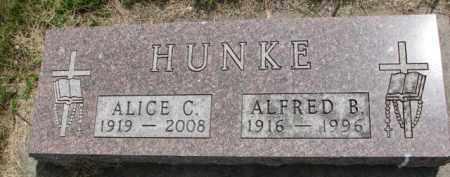HUNKE, ALFRED B. - Stanton County, Nebraska | ALFRED B. HUNKE - Nebraska Gravestone Photos
