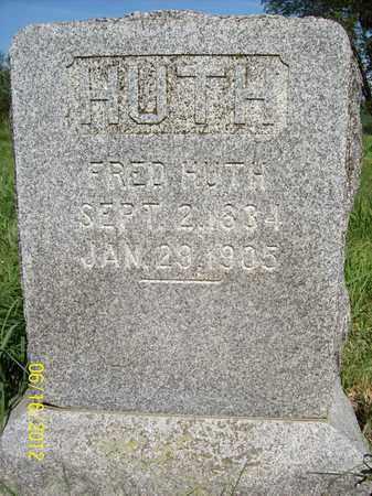 HUTH, FRED - Stanton County, Nebraska | FRED HUTH - Nebraska Gravestone Photos