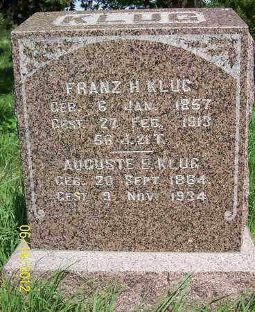 KLUG, AUGUSTE E. - Stanton County, Nebraska | AUGUSTE E. KLUG - Nebraska Gravestone Photos