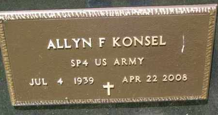 KONSEL, ALLYN F. (MILITARY) - Stanton County, Nebraska | ALLYN F. (MILITARY) KONSEL - Nebraska Gravestone Photos