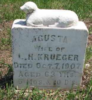 KRUEGER, AGUSTA - Stanton County, Nebraska | AGUSTA KRUEGER - Nebraska Gravestone Photos