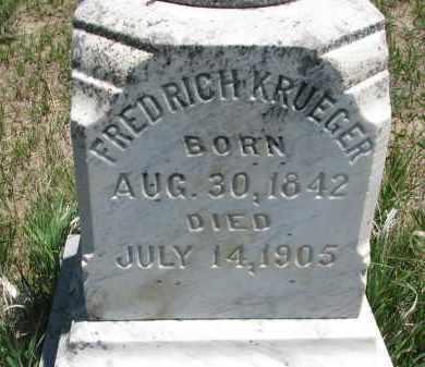 KRUEGER, FREDRICH (CLOSEUP) - Stanton County, Nebraska   FREDRICH (CLOSEUP) KRUEGER - Nebraska Gravestone Photos