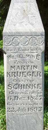 KRUEGER, WILHELMINE - Stanton County, Nebraska | WILHELMINE KRUEGER - Nebraska Gravestone Photos