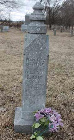 LOE, BERTHA MARIE - Stanton County, Nebraska | BERTHA MARIE LOE - Nebraska Gravestone Photos