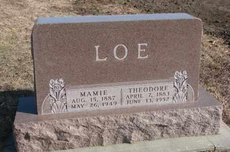 LOE, THEODORE - Stanton County, Nebraska | THEODORE LOE - Nebraska Gravestone Photos