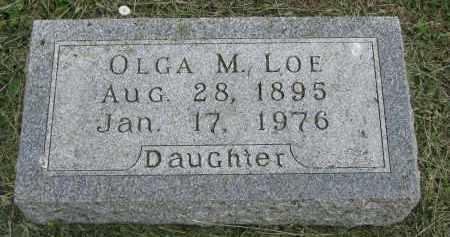 LOE, OLGA M. - Stanton County, Nebraska   OLGA M. LOE - Nebraska Gravestone Photos