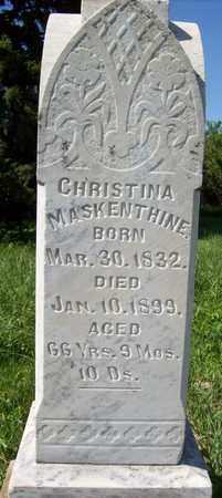 MASKENTHINE, CHRISTINA - Stanton County, Nebraska | CHRISTINA MASKENTHINE - Nebraska Gravestone Photos