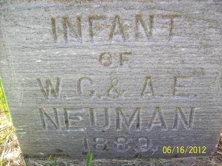 NEUMAN, INFANT - Stanton County, Nebraska | INFANT NEUMAN - Nebraska Gravestone Photos