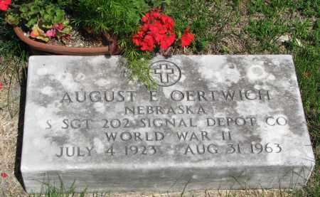 OERTWICH, AUGUST E. - Stanton County, Nebraska   AUGUST E. OERTWICH - Nebraska Gravestone Photos