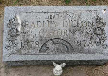OSBORN, BRADLEY DILLON - Stanton County, Nebraska   BRADLEY DILLON OSBORN - Nebraska Gravestone Photos