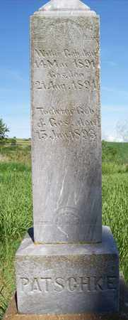 PATSCHKE, DAUGHTER - Stanton County, Nebraska | DAUGHTER PATSCHKE - Nebraska Gravestone Photos