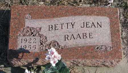 RAABE, BETTY JEAN - Stanton County, Nebraska | BETTY JEAN RAABE - Nebraska Gravestone Photos