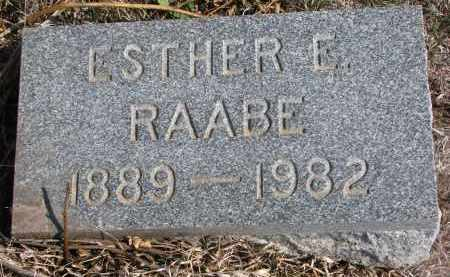 RAABE, ESTHER E. - Stanton County, Nebraska | ESTHER E. RAABE - Nebraska Gravestone Photos