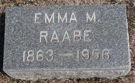 RAABE, EMMA M. - Stanton County, Nebraska | EMMA M. RAABE - Nebraska Gravestone Photos