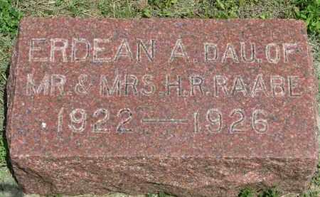 RAABE, ERDEAN A. - Stanton County, Nebraska   ERDEAN A. RAABE - Nebraska Gravestone Photos