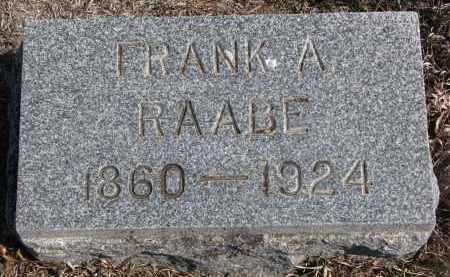RAABE, FRANK A. - Stanton County, Nebraska | FRANK A. RAABE - Nebraska Gravestone Photos