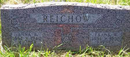 REICHOW, FRANK W. - Stanton County, Nebraska | FRANK W. REICHOW - Nebraska Gravestone Photos
