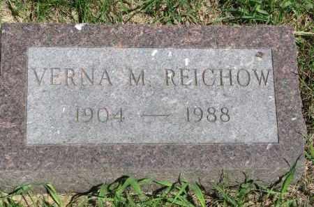REICHOW, VERNA M. - Stanton County, Nebraska | VERNA M. REICHOW - Nebraska Gravestone Photos