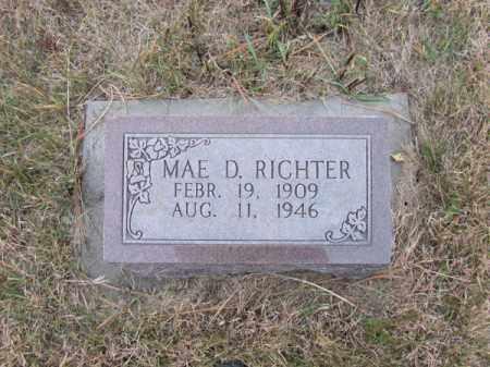 RICHTER, MAE D - Stanton County, Nebraska   MAE D RICHTER - Nebraska Gravestone Photos