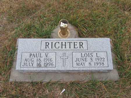 RICHTER, PAUL V - Stanton County, Nebraska | PAUL V RICHTER - Nebraska Gravestone Photos