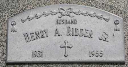 RIDDER, HENRY A. JR. - Stanton County, Nebraska | HENRY A. JR. RIDDER - Nebraska Gravestone Photos