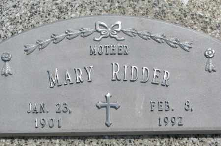 RIDDER, MARY - Stanton County, Nebraska | MARY RIDDER - Nebraska Gravestone Photos