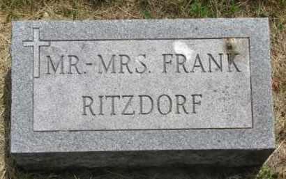 RITZDORF, MR. & MRS. FRANK - Stanton County, Nebraska   MR. & MRS. FRANK RITZDORF - Nebraska Gravestone Photos