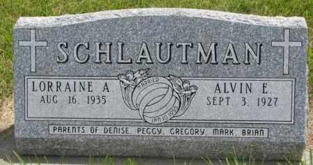 SCHLAUTMAN, ALVIN E. - Stanton County, Nebraska   ALVIN E. SCHLAUTMAN - Nebraska Gravestone Photos