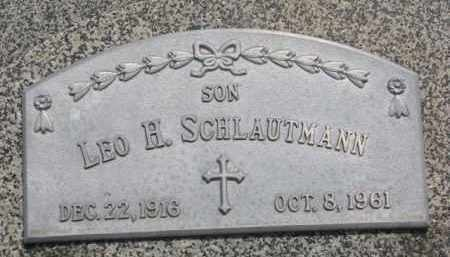 SCHLAUTMANN, LEO H. - Stanton County, Nebraska | LEO H. SCHLAUTMANN - Nebraska Gravestone Photos