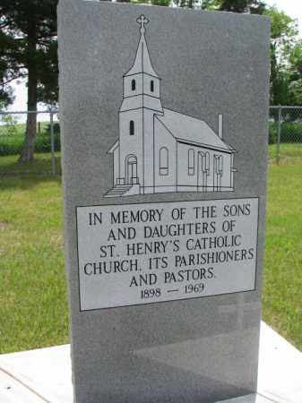 *ST. HENRY'S, CHURCH MARKER - Stanton County, Nebraska | CHURCH MARKER *ST. HENRY'S - Nebraska Gravestone Photos