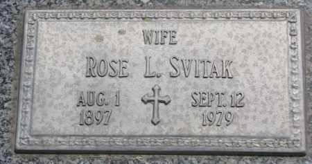 SVITAK, ROSE L. - Stanton County, Nebraska   ROSE L. SVITAK - Nebraska Gravestone Photos
