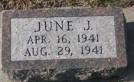 UNKNOWN, JUNE J. - Stanton County, Nebraska | JUNE J. UNKNOWN - Nebraska Gravestone Photos