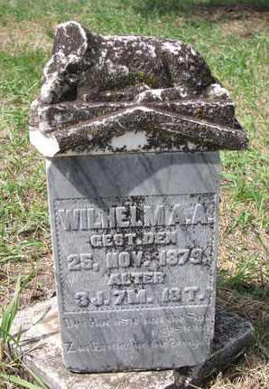 UNKNOWN, WILHELM A.A. - Stanton County, Nebraska   WILHELM A.A. UNKNOWN - Nebraska Gravestone Photos
