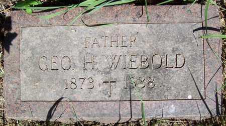 WIEBOLD, GEORGE H. - Stanton County, Nebraska   GEORGE H. WIEBOLD - Nebraska Gravestone Photos