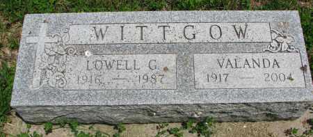WITTGOW, LOWELL G. - Stanton County, Nebraska | LOWELL G. WITTGOW - Nebraska Gravestone Photos