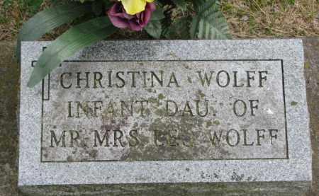 WOLFF, CHRISTINA - Stanton County, Nebraska   CHRISTINA WOLFF - Nebraska Gravestone Photos