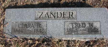 ZANDER, CLARA R. - Stanton County, Nebraska   CLARA R. ZANDER - Nebraska Gravestone Photos