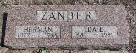 ZANDER, IDA E. - Stanton County, Nebraska   IDA E. ZANDER - Nebraska Gravestone Photos