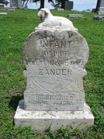 ZANDER, INFANT DAUGHTER - Stanton County, Nebraska   INFANT DAUGHTER ZANDER - Nebraska Gravestone Photos
