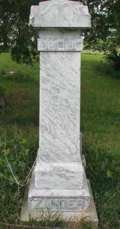 ZANDER, SOHN (SON) - Stanton County, Nebraska   SOHN (SON) ZANDER - Nebraska Gravestone Photos
