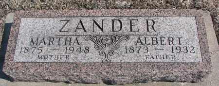 ZANDER, MARTHA - Stanton County, Nebraska | MARTHA ZANDER - Nebraska Gravestone Photos