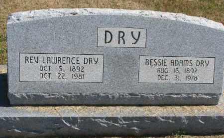ADAMS DRY, BESSIE - Thayer County, Nebraska | BESSIE ADAMS DRY - Nebraska Gravestone Photos