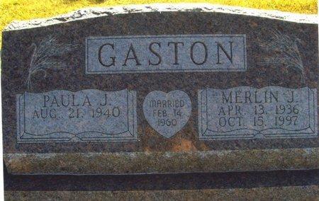 GASTON, MERLIN - Thayer County, Nebraska   MERLIN GASTON - Nebraska Gravestone Photos