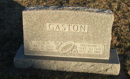 GASTON, ELSIE M. - Thayer County, Nebraska | ELSIE M. GASTON - Nebraska Gravestone Photos