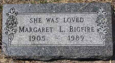 BIGFIRE, MARGARET L. - Thurston County, Nebraska | MARGARET L. BIGFIRE - Nebraska Gravestone Photos