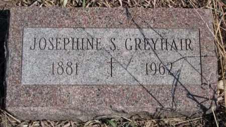 GREYHAIR, JOSEPHINE S. - Thurston County, Nebraska | JOSEPHINE S. GREYHAIR - Nebraska Gravestone Photos