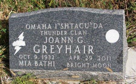 GREYHAIR, JOANN G. - Thurston County, Nebraska | JOANN G. GREYHAIR - Nebraska Gravestone Photos