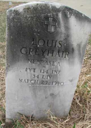 GREYHAIR, LOUIS - Thurston County, Nebraska   LOUIS GREYHAIR - Nebraska Gravestone Photos