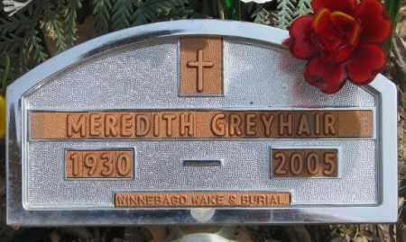 GREYHAIR, MEREDITH - Thurston County, Nebraska   MEREDITH GREYHAIR - Nebraska Gravestone Photos