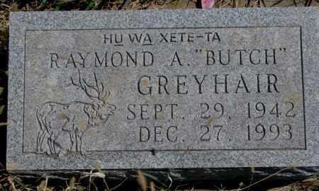 """GREYHAIR, RAYMOND A. """"BUTCH"""" - Thurston County, Nebraska   RAYMOND A. """"BUTCH"""" GREYHAIR - Nebraska Gravestone Photos"""
